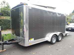 7 x 14 foot enclosed trailer.