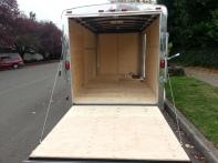 Enclosed Trailer Ramp Door