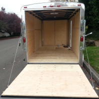 Enclosed Trailer Ramp Door