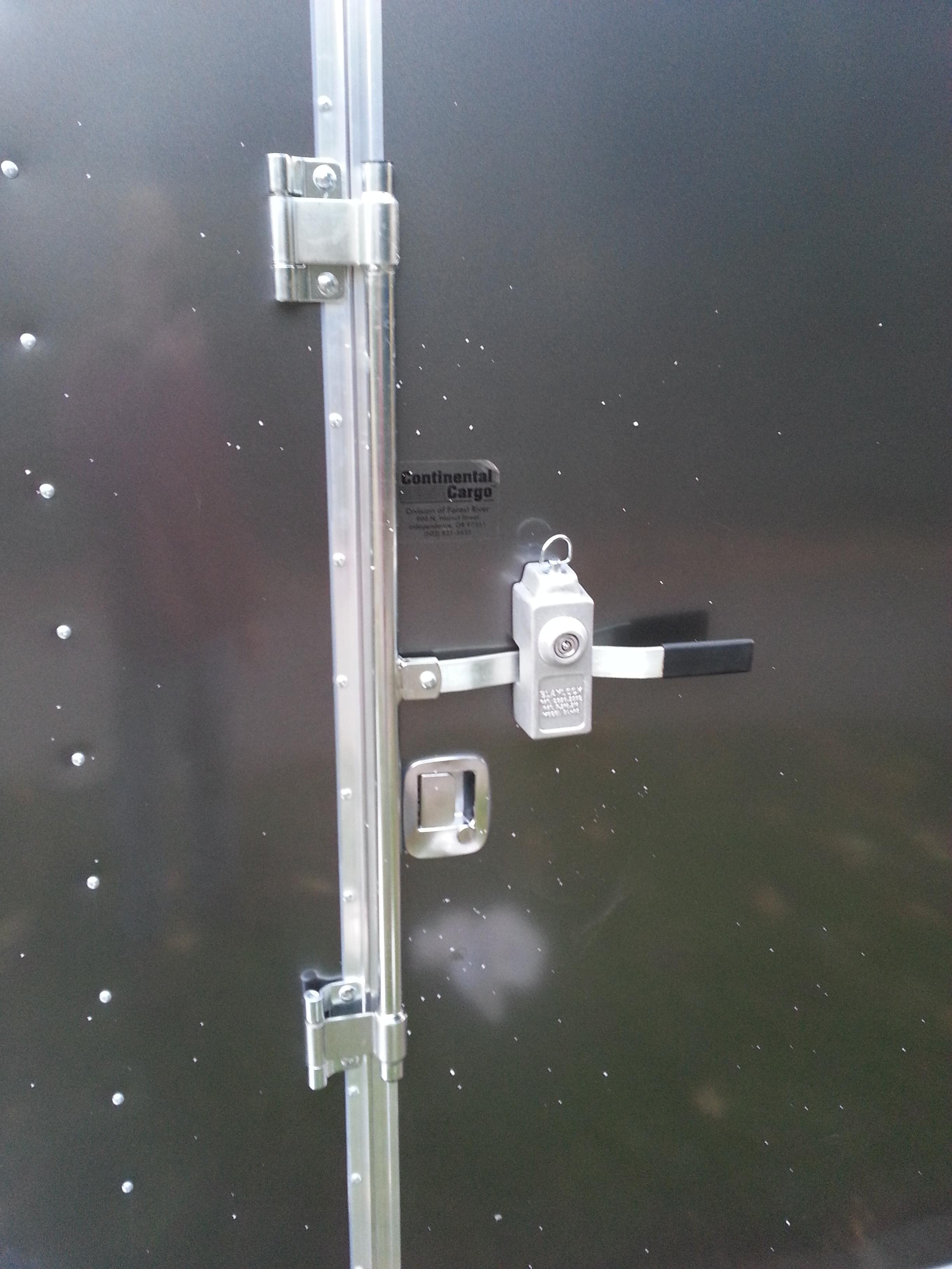 Enclosed Trailer Cam Bar Door Lock Install Musings On