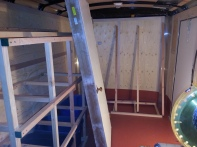 Enclosed Trailer Front Shelves Install