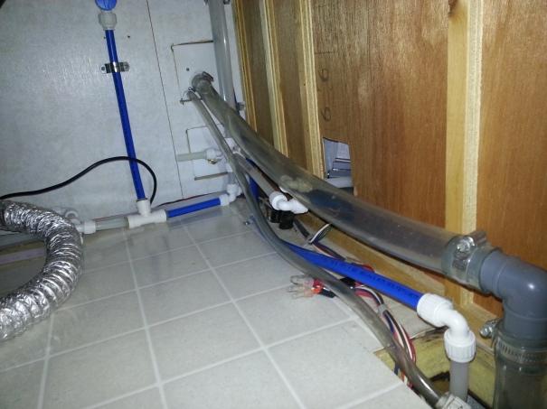 water lines under sink