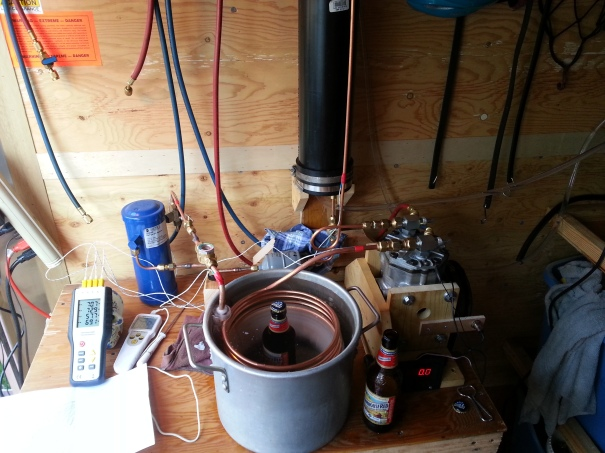 beer chilling refrigeration apparatus