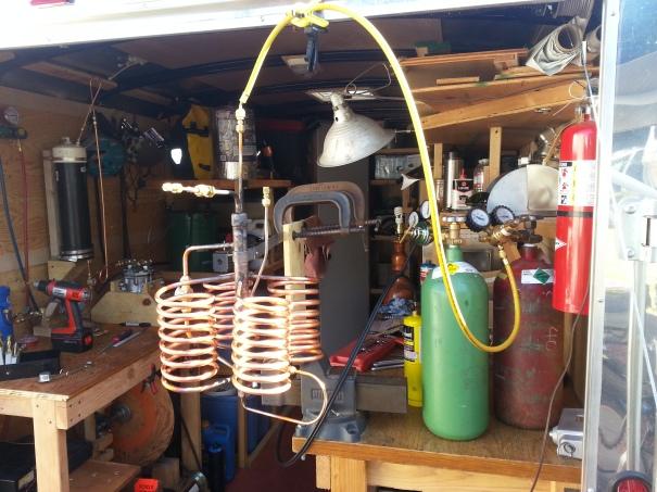 ebullator brazing setup